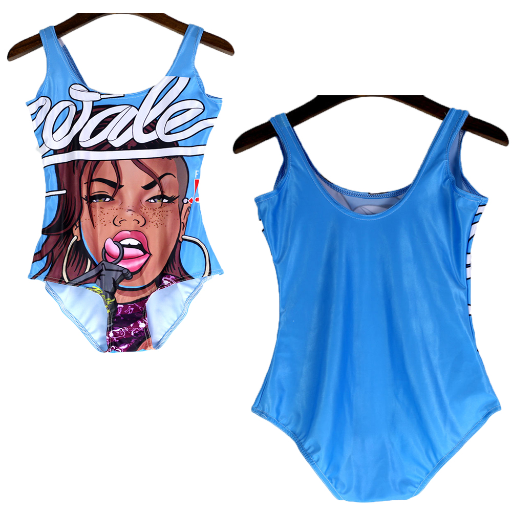 121c3a5008 Online Shop Punk Girl Wale ft. J. Cole Bad Girls Club One Piece Monokinis  Sexy Bodysuit Cosplay Rock Ladies Swimming Suit Beachwear Backless