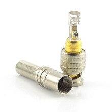 1pc BNC Stecker adapter twist auf Koaxial RG59 Kabel zu BNC Stecker für CCTV Zubehör A7