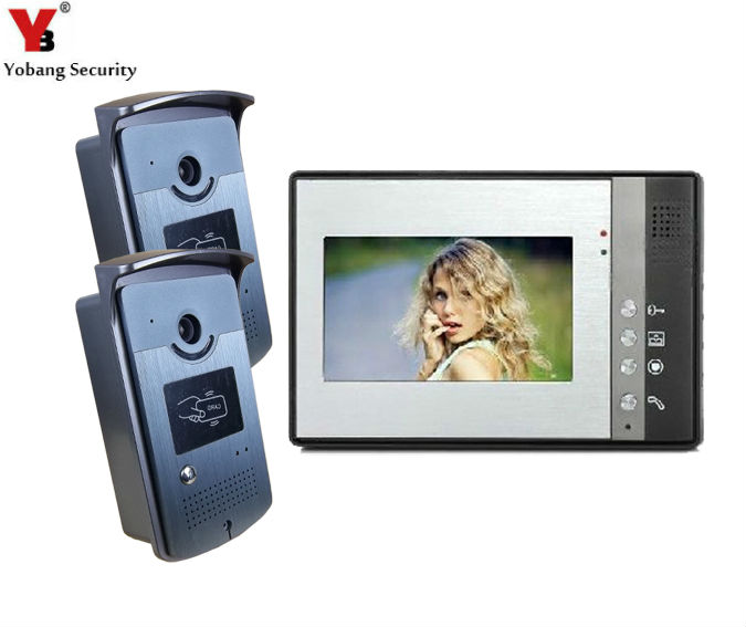 Yobang Security Color Screen Wired Home 7 Inch Video Intercom DoorPhone Color Visual Family Video Door Entry Phone Call System