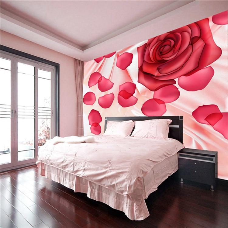 Romantic Rose Petal Photo Wallpaper Flowers Wall Mural