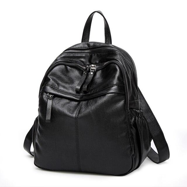 c20c8275b2d Luxury Brand Designer Women Bags 2017 Genuine Leather Kanken Backpack Large  Capacity Preppy Style lady Shoulder