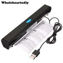 Портативный ноутбук/компьютер/ПК динамик усилитель громкоговоритель USB Саундбар звуковая панель палка музыкальный плеер колонки для ноутбука планшета