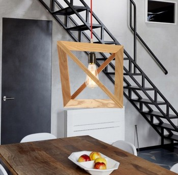 Estilo Loft Americano Arte Em Madeira Pingente Edison Droplight Iluminação Interior Luminárias Moderno Para Sala De Jantar Bar Lâmpada Pendurada