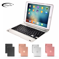 High Quality Case for Apple iPad 9.7 2017 2018 for iPad 5 6 Pro 9.7 Wireless Bluetooth Keyboard Cover for iPad Air / Air 2 Stand