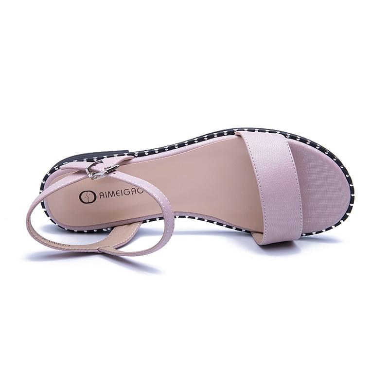 HTB1VIciborrK1RkSne1q6ArVVXa5 AIMEIGAO 2019 New Summer Sandals Women Casual Flat Sandals Comfortable Sandals For Women Large Size Women's Shoes