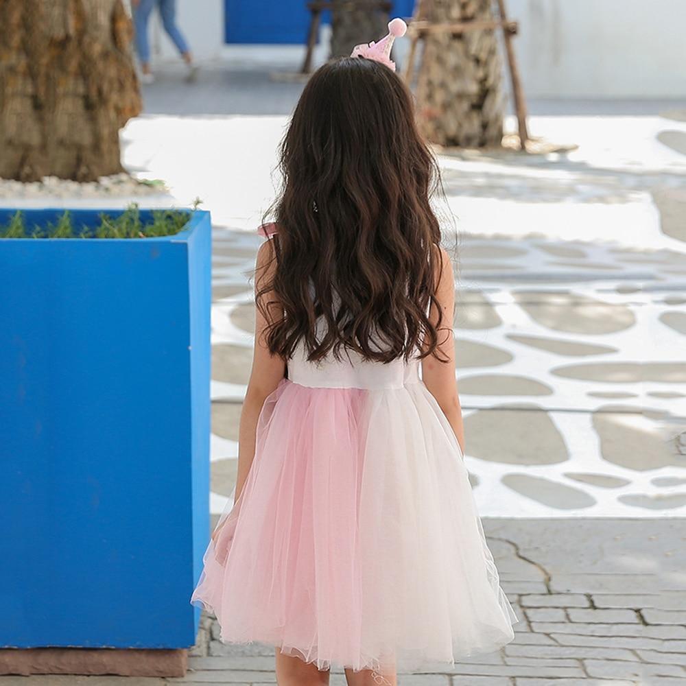 B-S15 nouvelle mode d'été filles robes 2018 enfants robes pour filles robes de princesse 5-14 T enfants Net-fil robe élégante pour les filles - 4