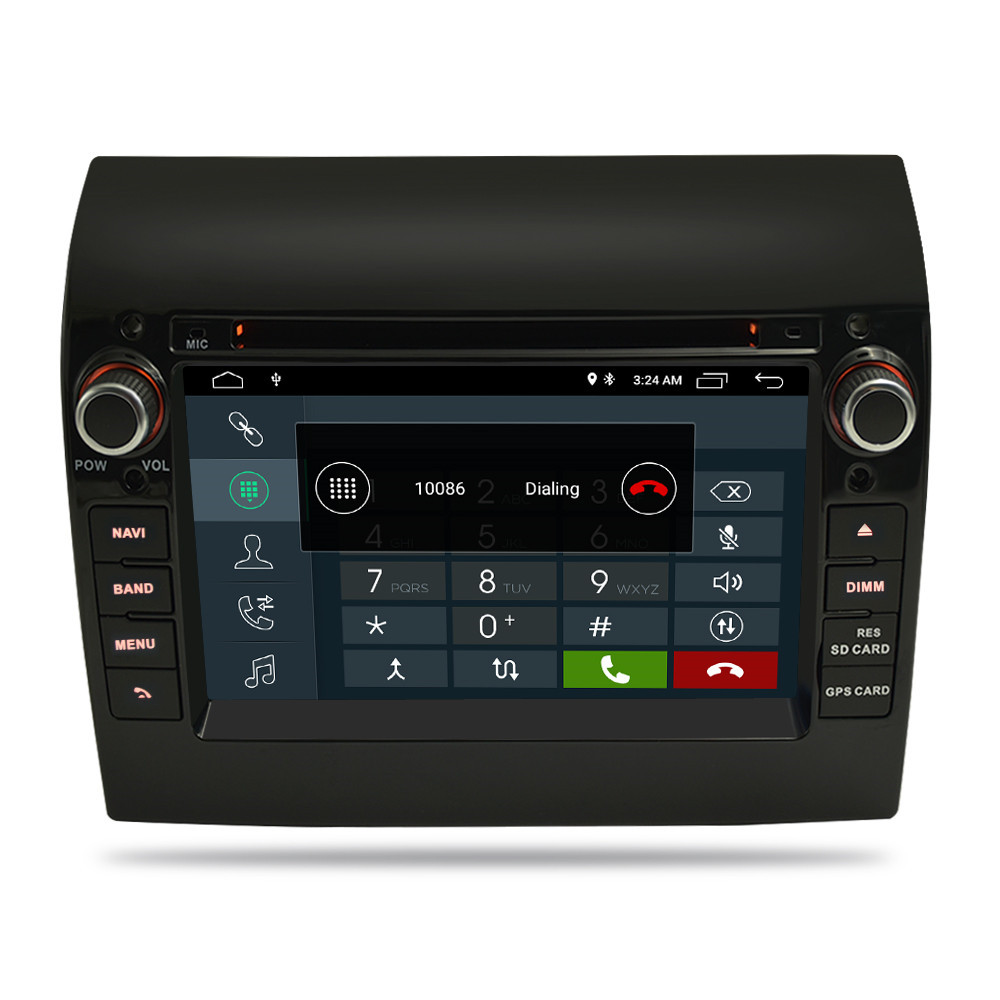 """7""""Android 9.1/9.0 Car Radio DVD Stereo GPS Navigation Multimedia Player For Fiat Ducato 2008-2015 Citroen Jumper Peugeot Boxer"""