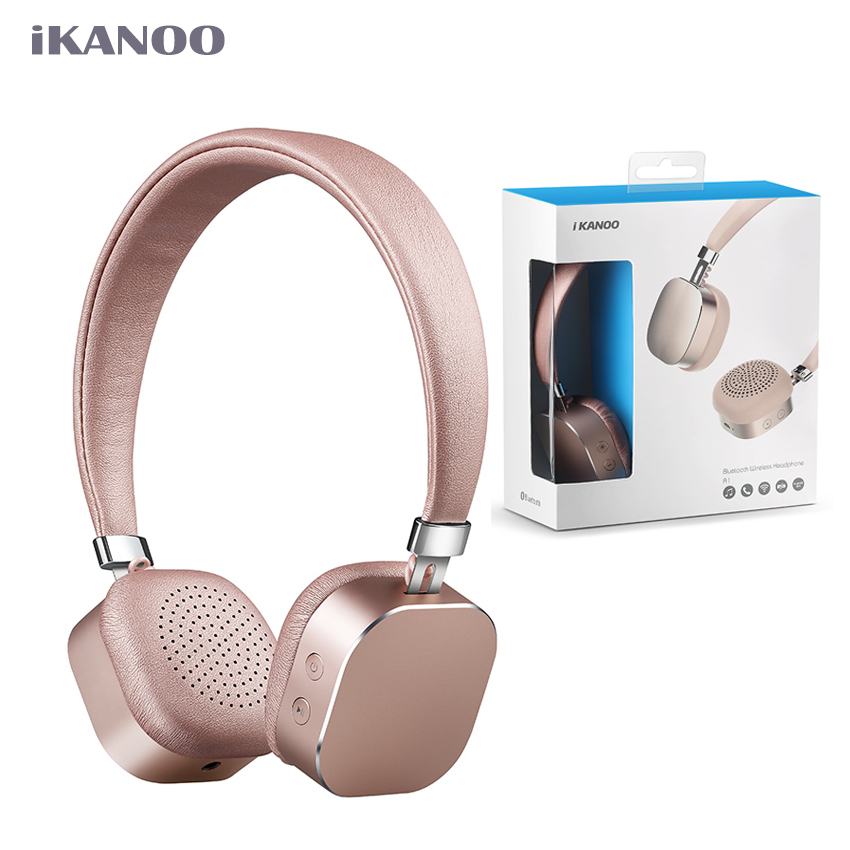 IKANOO Bluetooth 4.0 Headphones Girls Fashion Wireless Earphone For All IPhone & Android Phone Stereo Headset With Microphone new k6 bluetooth headset earphone voice command auto answers for iphone android busiess bluetooth headphones with storage box
