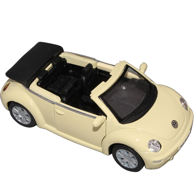 free shipping Soft world kt5073 new beetle volkswagen beetle cabriolet roadster alloy car model toy car