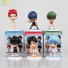 (6 cái/lốc) con số Hành Động Kuroko không có Giỏ dễ thương đáng yêu cartoon búp bê PVC 6 cm hộp đóng gói nhật bản figurine anime 160192