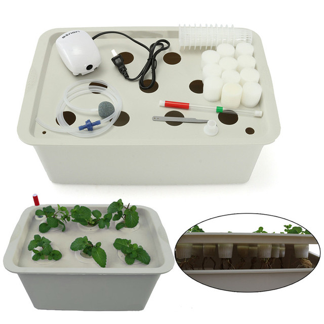 11 Holes US Plug 220-240V Plant Site Hydroponic System Indoor Garden Cabinet Box Grow Kit Bubble Garden Pots Planter Nursery Pot