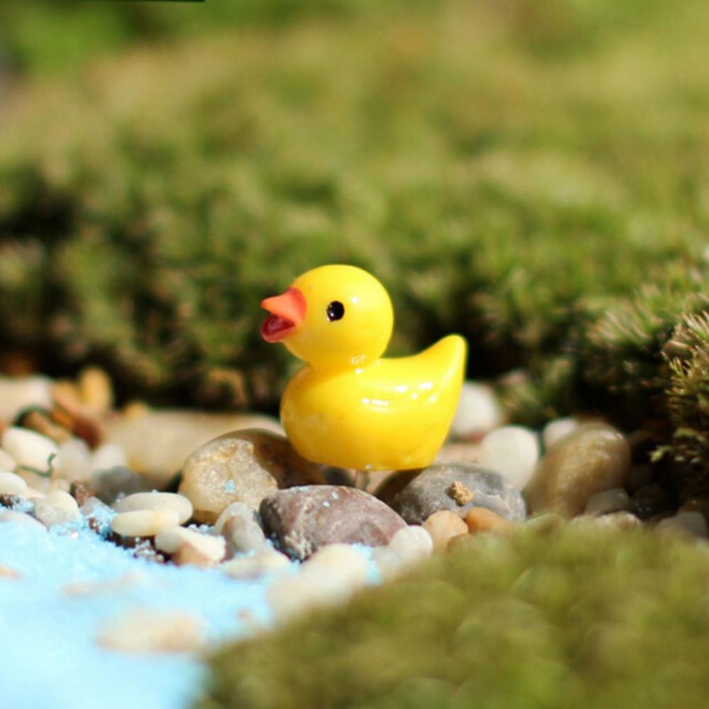 10x Yellow Miniature Ducks Ducky Dollhouse Fairy Garden Landscape Decor DIY