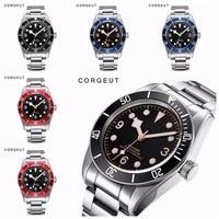 ساعة يد آلية من Corgeut مضيئة من الياقوت الشوارز باي للرجال ساعة سباحة رياضية أوتوماتيكية ماركة فاخرة ساعات يد ميكانيكية للرجال|الساعات الميكانيكية|   -