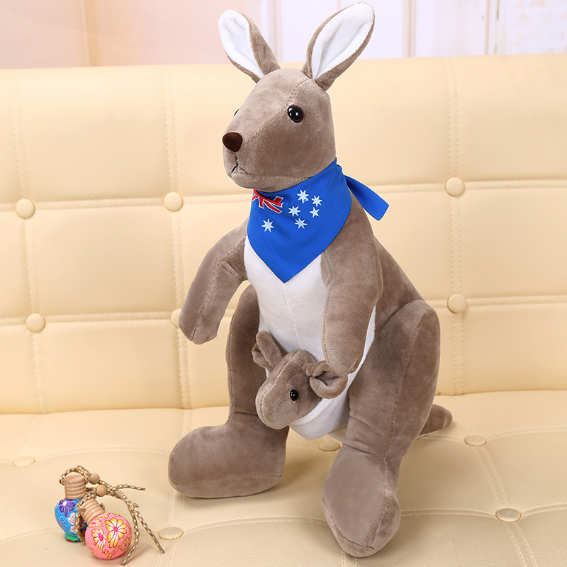 25cm  Cute Lovely Soft  Plush Doll  Australian Mother And Child Kangaroo Plush Toys Baby Toys Birthday Gift For Kids Children
