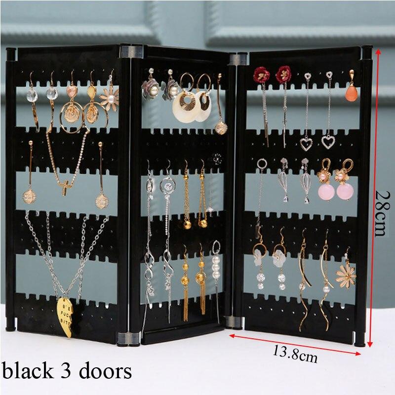 NewTop Sale Plastics Earring Storage Doors Design Nice Jewelry Hanging Holder Rack Acrylics Jewelry Display Stand Earrings