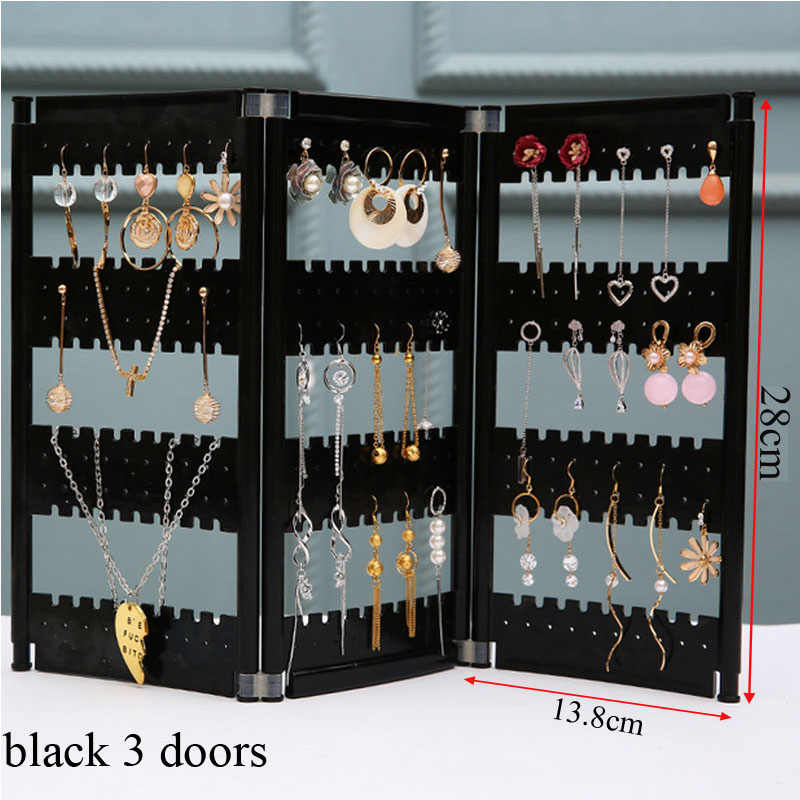 NewTop Sale Plastics Earring Storage Doors Design Nice Jewelry Hanging Holder Rack Acrylics Jewelry Display Stand Earrings