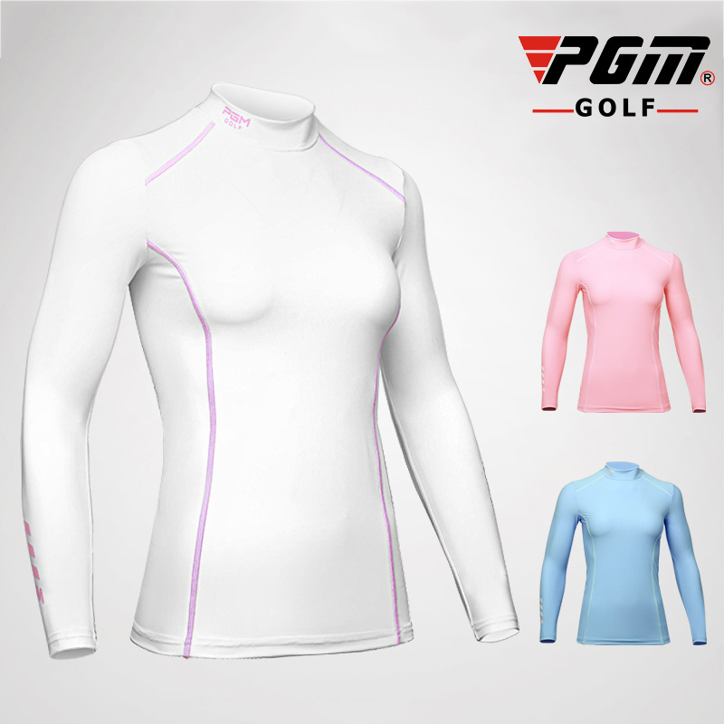 PGM Golf Trainning Full Shirt For Women Lycra Breathable Quick Dry Sunproof Summer Sports Long Sleeve Shirt Brand Golf Clothing
