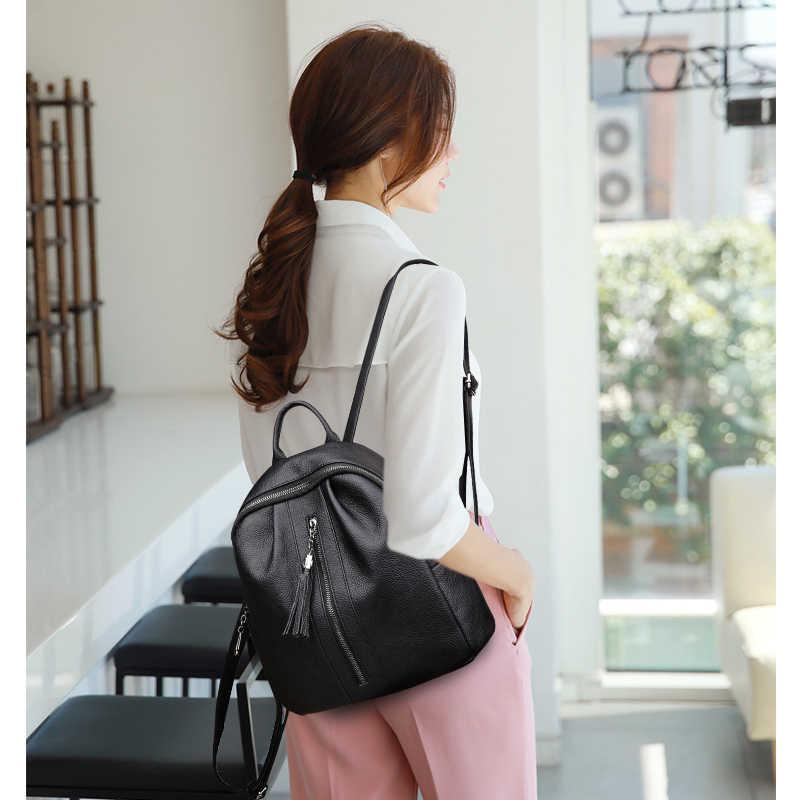 2019 женские кожаные рюкзаки, высокое качество, дорожная сумка на плечо, женский рюкзак для девочек, школьные сумки, консервативный рюкзак, Новинка