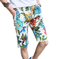 2017 New Men's Shorts Beach Style Print Casual Shorts Large Size 29-40 Summer cotton Business Slim Male Brand Floral Shorts