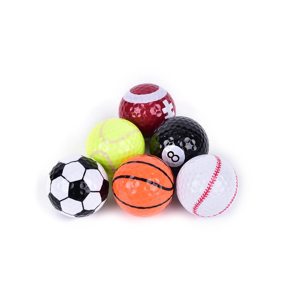 6Pc/set 42.6mm Surlyn+Rubber Golf Training Range ball Practice Official ball Golf Sports Elastic Ball