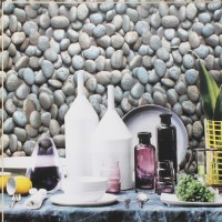 Beibehang Simulated Cobblestone PVC Culture Stone Wallpaper Thick Wallpaper Living Room Restaurant