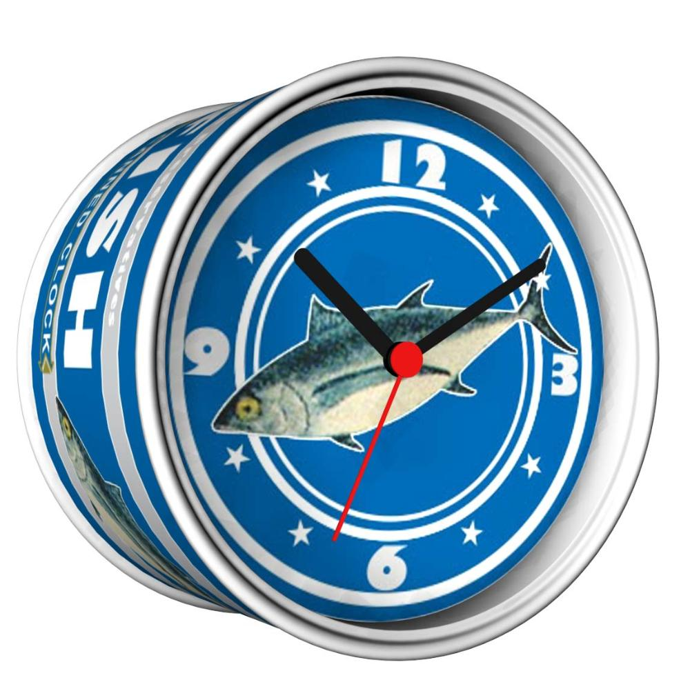 2014 New DIY Tuna Fish Can Design Magnetic Cheap Wall Clocks,Cheap Desk Clocks,Cheap Table Function Clocks In