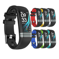 G26S Fitness Smart Bracelet Blood Pressure Heart Rate Monitor Smart Band Watch Mutiple Sport Mode Wristbands for Xiao Mi Huawei