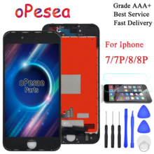 цена на oPesea Grade AAA For iPhone 7 7 Plus 8 8 Plus New LCD Display Panel Touch Screen Digitizer Assembly Replacement Parts