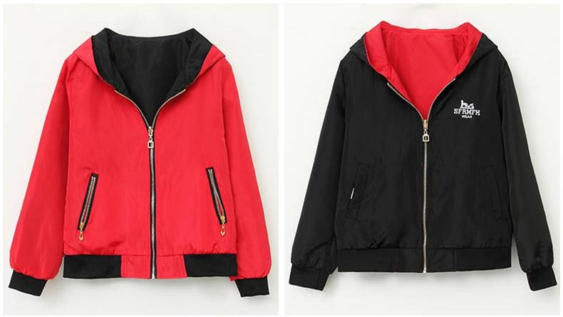 HTB1VIe XA9E3KVjSZFrq6y0UVXaA Windbreak Jacket Women Long Sleeve Hooded Coats Spring Autumn Casual Solid Zip Up Basic Jackets for Women