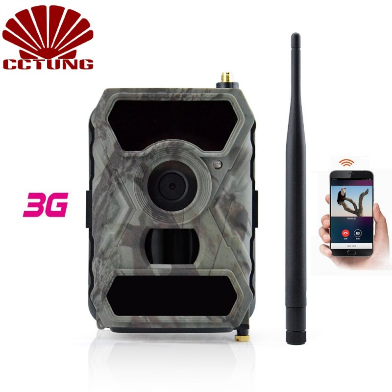 3G mobil nyomvonal fényképezőgép 12MP HD-képpel és 1080P kép-videó felvétel ingyenes APP távirányítóval, IP54 vízálló