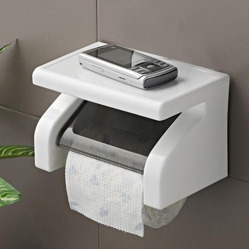2018 New Durable Waterproof Toilet Paper Plastic Holder Tissue Holder Roll Paper Holder Box Bathroom Accessories Wall Mounted