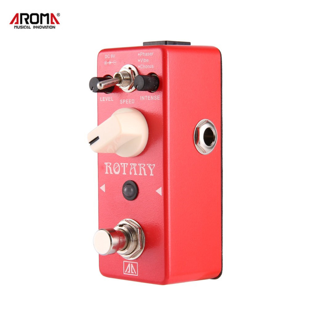 AROMA ARE-5 Rotary Speaker Simulator Effects Mini Guitar Effect Pedal 3 Modes True Bypass Guitar Parts & Accessories aroma ac stage acoustic guitar simulator effect pedal aas 3 high sensitive durable top knob volume knob true bypass metal shell