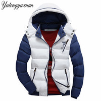 Winter Men's Thick Cotton Coat Hooded Jacket Men Jacket Brand Casual Warmth Jackets Coats Thick Parka Men Outwear Plus Size 4XL