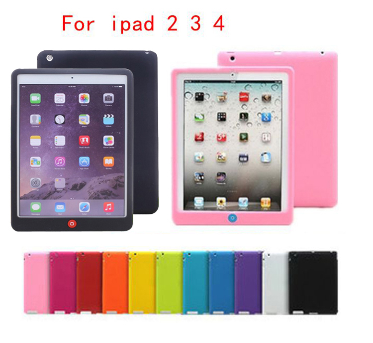 Candy Color Soft Jelly Silicone Rubber TPU Case For iPad 2 3 4 Gel Case Skin Shell Protective Back Cover For iPad 2 3 4 european candy color jelly package imported rubber rubber single shoulder handbag concise doctrine finalize the design package