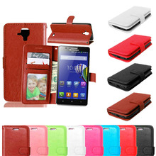Phone Bag For Lenovo A536 Skin Wallet Book Style Stand PU Leather Cover Flip Case For