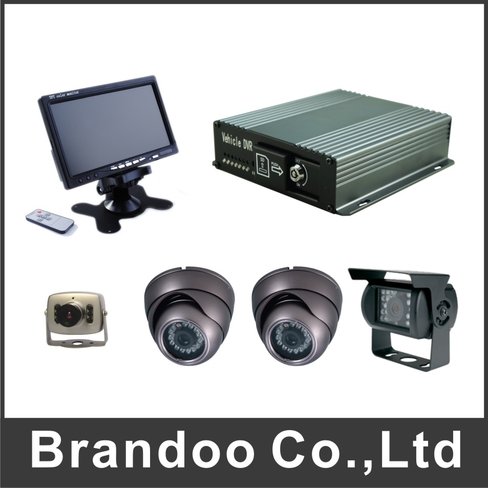 4CH SD CAR DVR complete kit DIY installation for bus taxi trainning cars