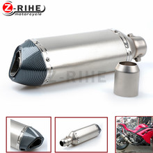 for Universal Modified Motorcycle Exhaust Muffler pipe Silencer pipe FOR most YAMAHA FAZER1000 FZ600 FZ6N FZ1000 FZ1N Tmax 500