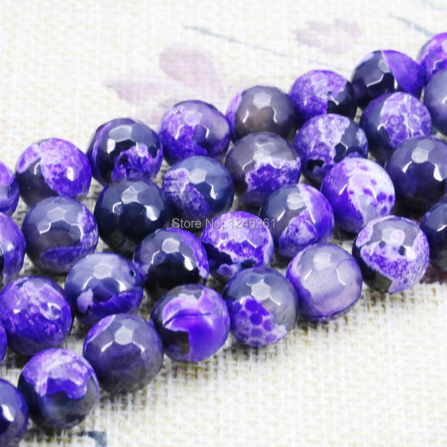 Ornaments Purple Onyx Beads Carnelian Loose Natural Stone Faceted Round DIY Jewelry Making Gifts Accessory Parts 6 8 10 12mm
