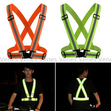 Green Orange Suit For Night Jogging Running and Cycling High Adjustable Safety Security Visibility Reflective Vest Florescent