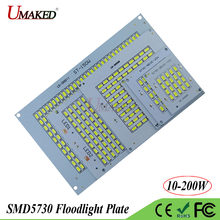 Full Watt LED PCB SMD5730 COB Floodlight plate 10W 20W 30W 50W 100W 150W 200W Aluminum Hear sink Light source for spotlight lamp(China)