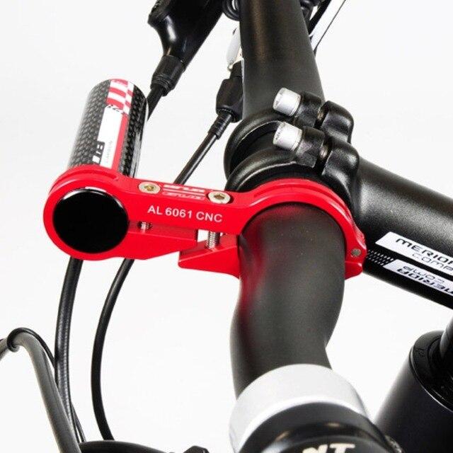 GUB G-329 Carbon Bike Bicycle Handle Bar Extender Mount Cycling Phone Lamp Bike Light Bracket Holder for 31.8 mm Bike Handlebar