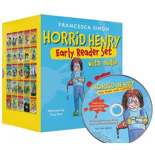 25 livres/ensemble avec CD Horrid Henry lecteur précoce livres à colorier anglais pour enfants Manga histoire livre enfants jouets éducatifs