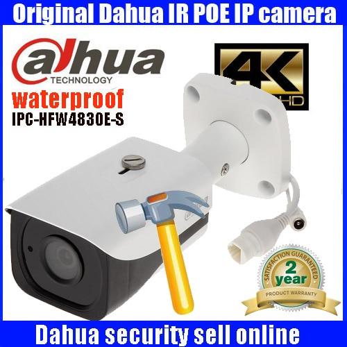 H265 Original dahua DH-IPC-HFW4830E-S 8MP 4K IP Camera POE full HD network IR dome camera