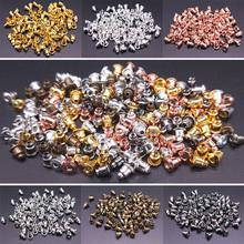 100pcs Six Colors Alloy Earring Backs Bullet Stoppers Earnuts Earring Back Plugging Blocked Back DIY Jewelry Making Accessories