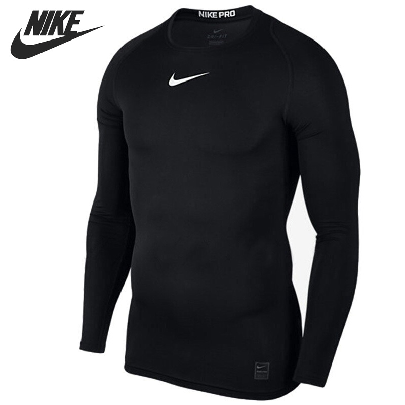 Original New Arrival NIKE AS M NP TOP LS COMP Men's T-shirts Long sleeve Sportswear original new arrival 2017 nike as m np hprwm top ls comp men s t shirts long sleeve sportswear