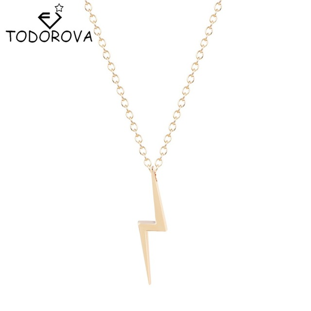 Todorova vintage accessories punk jewelry cute delicate lightning todorova vintage accessories punk jewelry cute delicate lightning bolt charm pendant thunder strike necklaces gift mozeypictures Choice Image