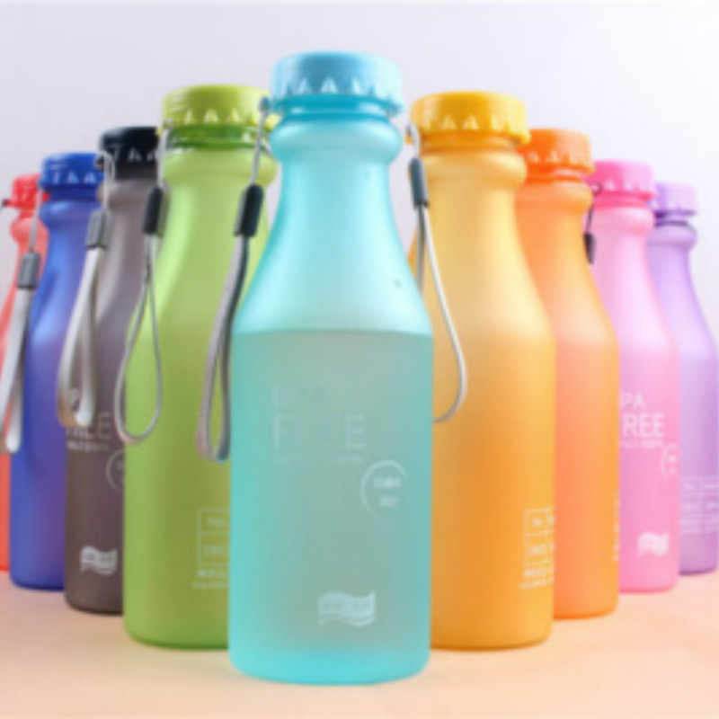 550 Ml Plastik Olahraga Botol Air Anti Bocor Yoga Kebugaran Gym Shaker Botol Air Portabel Anti Pecah Botol Cocok anak-anak