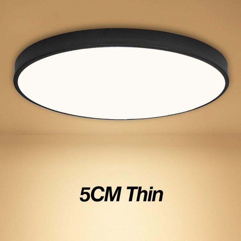 Plafonniers couleur blanche personnalité éclairage intérieur plafonnier pour salon chambre lampe ronde coureur