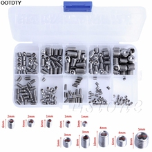 200Pcs Screw Stainless Steel Hex Head Socket Allen Grub Screw Cup Point Assortment Kit