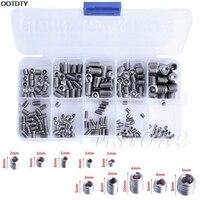200Pcs Stainless Steel Hex Head Socket Allen Grub Screw Cup Point Assortment Kit